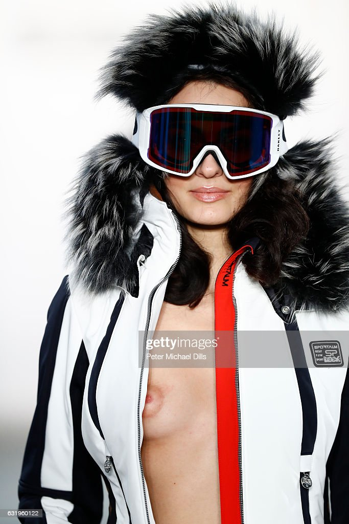 A model walks the runway at the Sportalm show during the Mercedes-Benz Fashion Week Berlin A/W 2017 at Kaufhaus Jandorf on January 18, 2017 in Berlin, Germany.