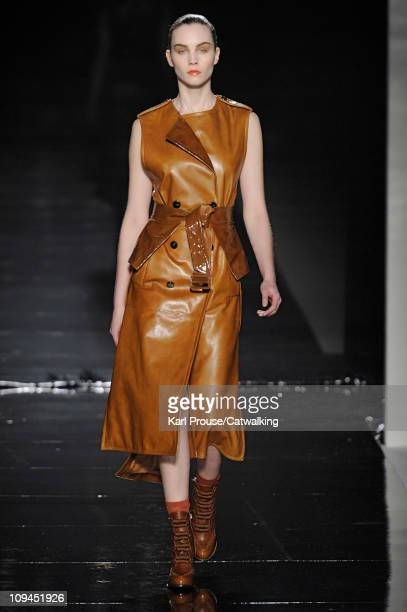 Model walks the runway at the Sportmax fashion show during Milan Fashion Week on February 26, 2011 in Milan, Italy.