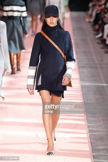 A model walks the runway at the Sportmax show at Milan Fashion Week Autumn/Winter 2019/20 on February 20 2019 in Milan Italy