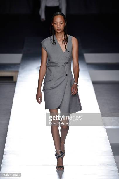 A model walks the runway at the Sportmax show during Milan Fashion Week Spring/Summer 2019 on September 21 2018 in Milan Italy