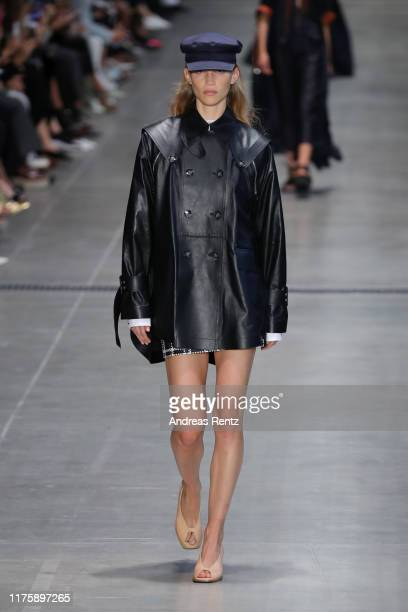 Model walks the runway at the Sportmax show during the Milan Fashion Week Spring/Summer 2020 on September 20, 2019 in Milan, Italy.