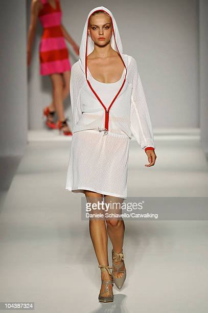 A model walks the runway at the Sportmax Spring Summer 2011 fashion show during Milan Fashion Week at on September 23 2010 in Milan City