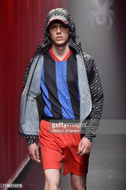A model walks the runway at the Spyder fashion show during the Milan Men's Fashion Week Spring/Summer 2020 on June 17 2019 in Milan Italy