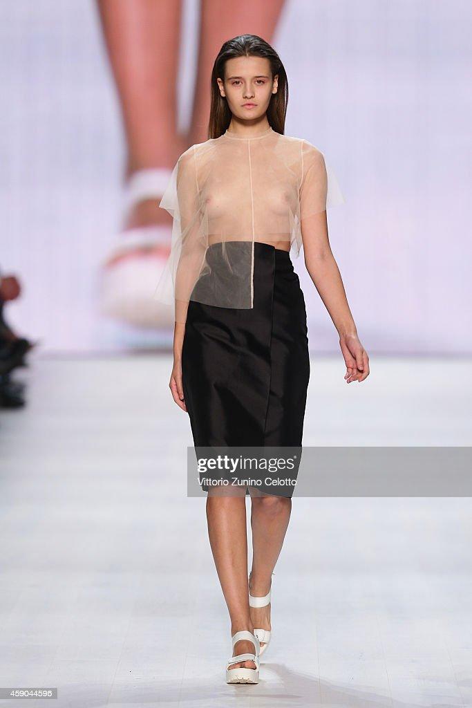 Stefanie Biggel - Mercedes-Benz Fashion Days Zurich 2014 : News Photo