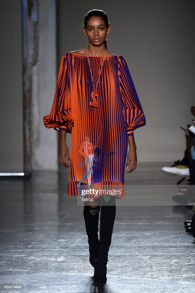 Stella Jean - Runway - Milan Fashion Week Fall/Winter 2018/19 : News Photo