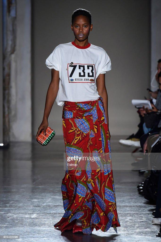 Stella Jean - Runway - Milan Fashion Week Fall/Winter 2018/19 : News Photo