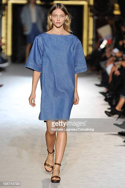 A model walks the runway at the Stella McCartney fashion show during Paris Fashion Week on October 4 2010 in Paris City