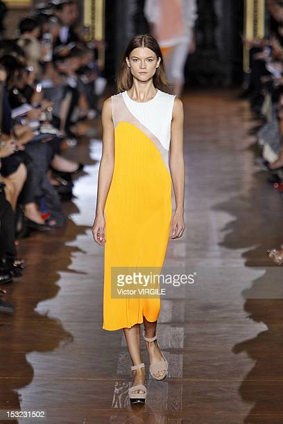 A model walks the runway at the Stella McCartney Spring Summer 2013 fashion show during Paris Fashion Week on October 1 2012 in Paris France
