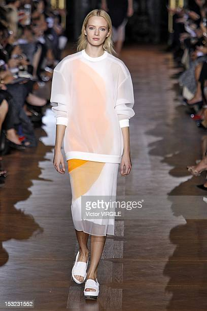 Model walks the runway at the Stella McCartney Spring Summer 2013 fashion show during Paris Fashion Week on October 1, 2012 in Paris, France.