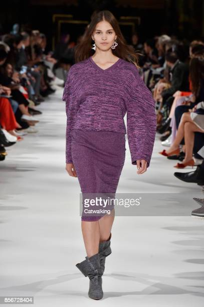 A model walks the runway at the Stella McCartney Spring Summer 2018 fashion show during Paris Fashion Week on October 2 2017 in Paris France