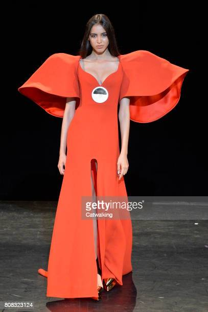 A model walks the runway at the Stephane Rolland Autumn Winter 2017 fashion show during Paris Haute Couture Fashion Week on July 4 2017 in Paris...