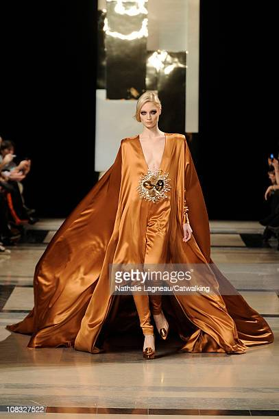 Model walks the runway at the Stephane Rolland fashion show during Paris Haute Couture Fashion Week on January 25, 2011 in Paris, France.