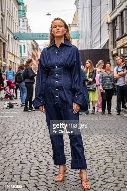 Model walks the runway at the street viewing of Norwegian Design at the opening of the Richie Talboy and Yael Quint Exhibition at the Fushion Fashion...