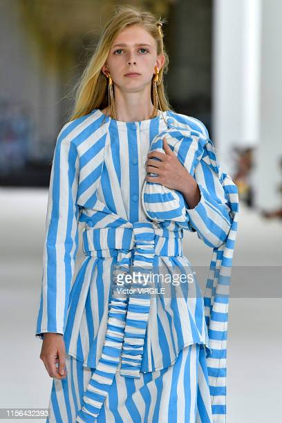 A model walks the runway at the Sunnei fashion show during the Milan Men's Fashion Week Spring/Summer 2020 on June 16 2019 in Milan Italy