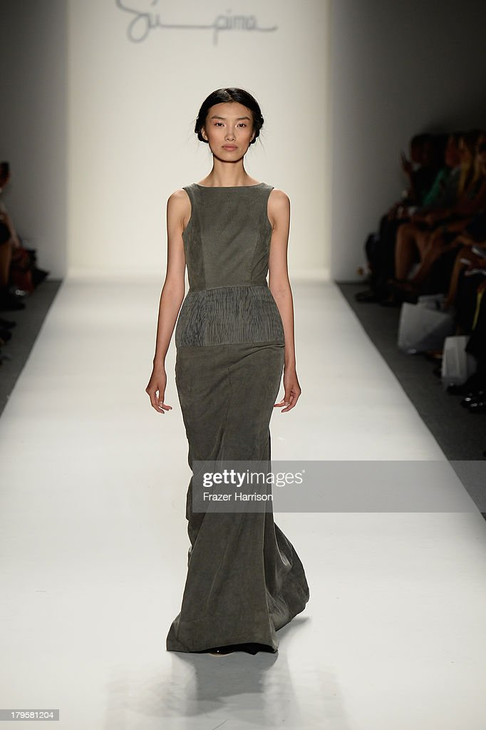 A model walks the runway at the Supima Spring 2014 fashion show during Mercedes-Benz Fashion Week at The Studio at Lincoln Center on September 5, 2013 in New York City.