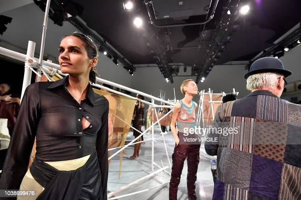 A model walks the runway at the Supriya Lele Ready to Wear Spring/Summer 2019 fashion show during London Fashion Week September 2018 on September 16...