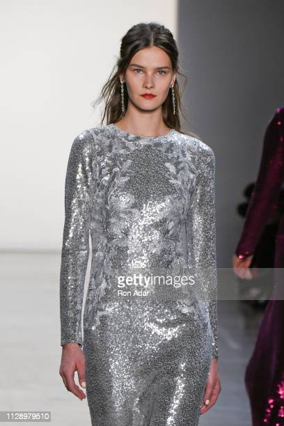 Model walks the runway at the Tadahi Shoji show during New York Fashion Week: The Shows Fall Winter 2019 at Gallery I at Spring Studios on February...