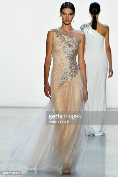 A model walks the runway at the Tadashi Shoji Spring/Summer 2019 Fashion show during New York Fashion Week on September 6 2018 in New York City