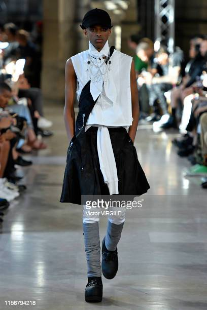A model walks the runway at the Takahiromiyashita Thesoloist fashion show during Paris Men's Fashion Week Spring/Summer 2020 on June 18 2019 in Paris...