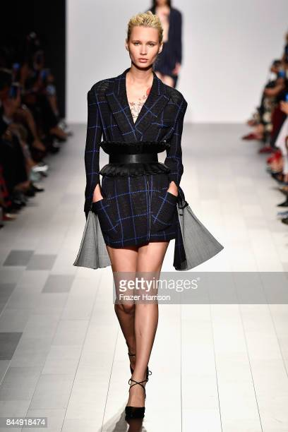 A model walks the runway at the Taoray Wang fashion show during New York Fashion Week The Shows at Gallery 1 Skylight Clarkson Sq on September 9 2017...