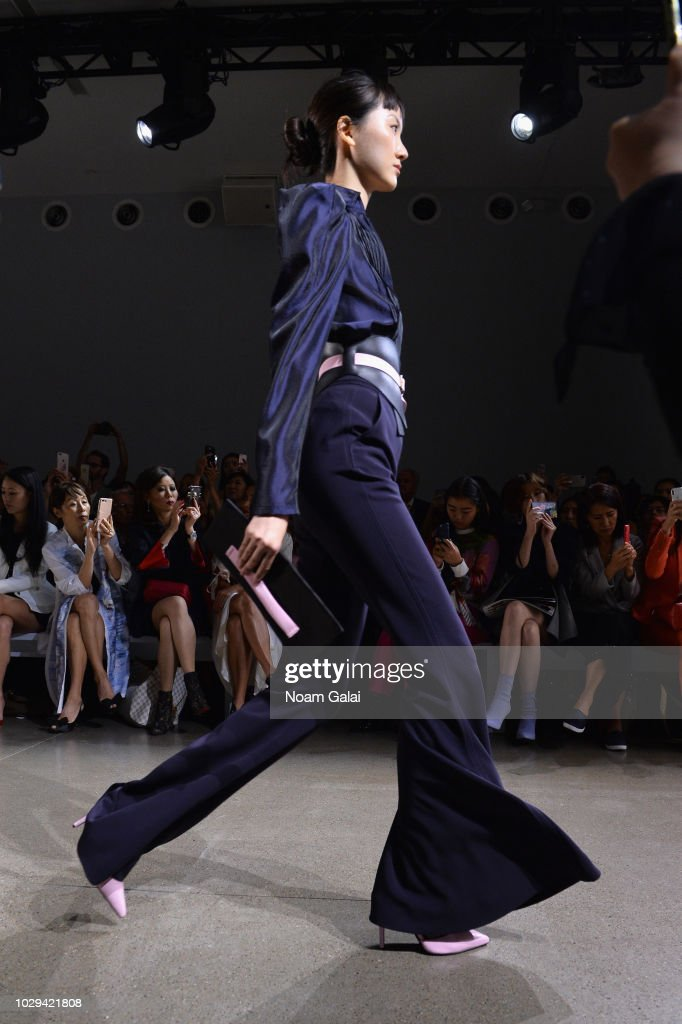 A model walks the runway at the Taoray Wang show in gallery II during New York Fashion Week: The Shows on September 8, 2018 in New York City.