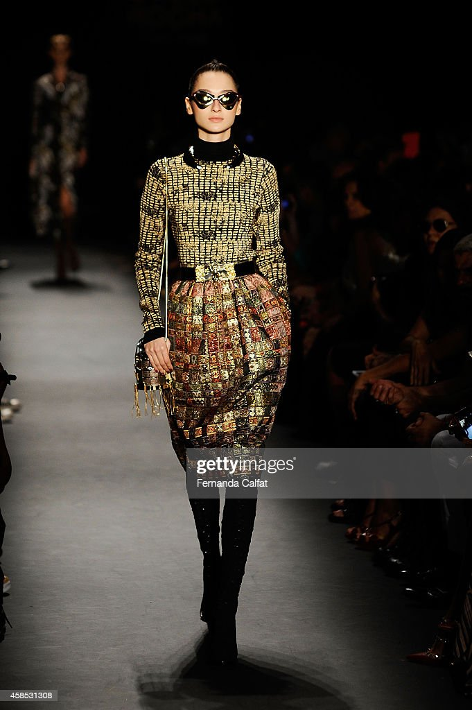 Teca por Helo Rocha - Runway - SPFW Winter 2015 : News Photo