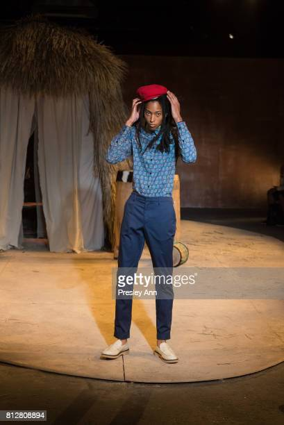 A model walks the runway at the Teddy Ondo Ella show during NYFW Men's July 2017 at ArtBeam on July 10 2017 in New York City