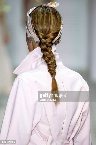 A model walks the runway at the Temperley London Ready to Wear Spring/Summer 2018 fashion show during London Fashion Week September 2017 on September...