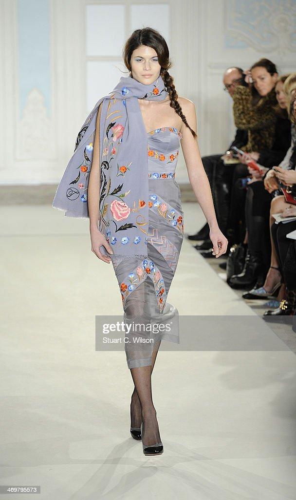 Temperley London: Runway - London Fashion Week AW14 : News Photo