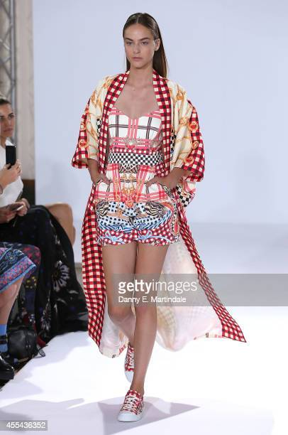 A model walks the runway at the Temperley London show during London Fashion Week Spring Summer 2015 on September 14 2014 in London England