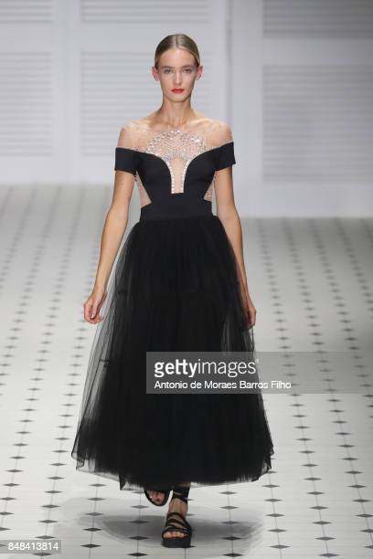 A model walks the runway at the Temperley London show during London Fashion Week September 2017 on September 17 2017 in London England