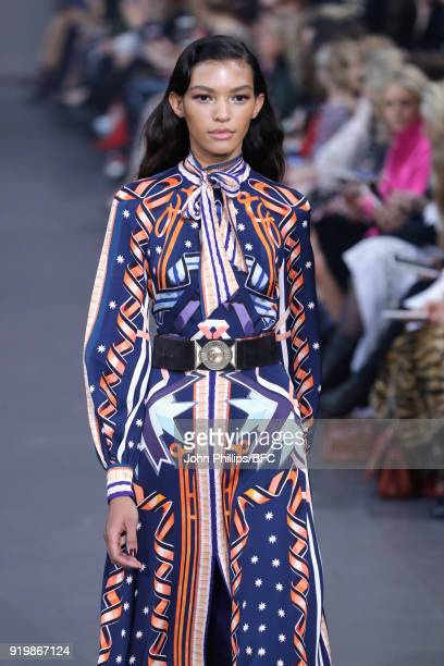 A model walks the runway at the Temperley London show during London Fashion Week February 2018 at on February 18 2018 in London England