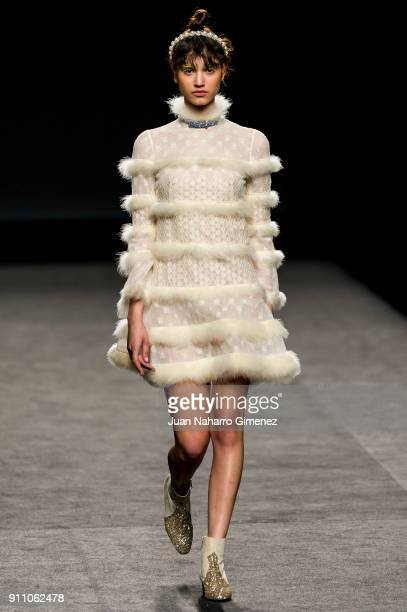 A model walks the runway at the Teresa Helbig show during the MercedesBenz Fashion Week Madrid Autumn/Winter 201819 at Ifema at Ifema on January 27...