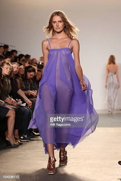 A model walks the runway at the Thakoon Spring 2011 fashion show during MercedesBenz Fashion Week at on September 12 2010 in New York City