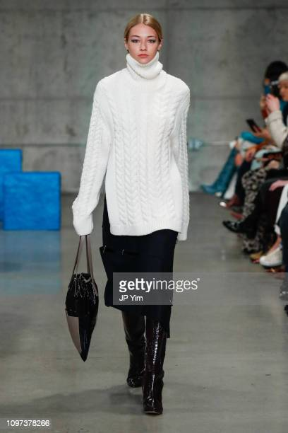 A model walks the runway at the Tibi Fall/Winter 2019 Collection at Skylight Modern on February 10 2019 in New York City