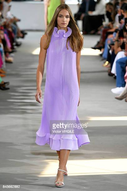 A model walks the runway at the Tibi Ready to Wear Spring/Summer 2018 during the New York Fashion Week on September 9 2017 in New York City