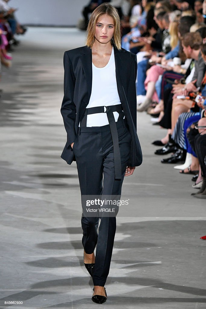 A model walks the runway at the Tibi Ready to Wear Spring/Summer 2018 during the New York Fashion Week on September 9, 2017 in New York City.
