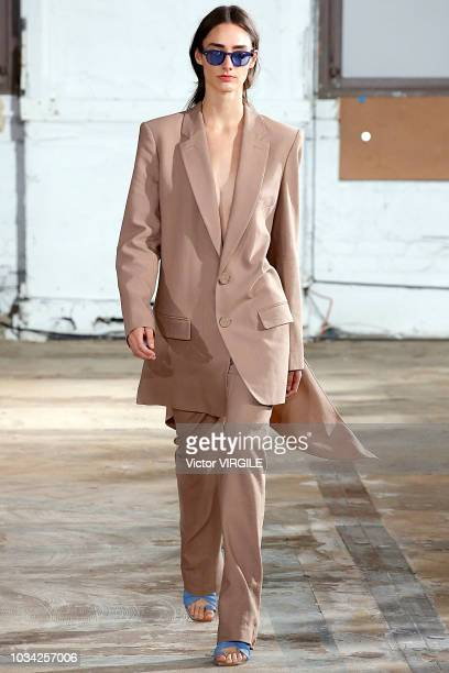 A model walks the runway at the Tibi Spring/Summer 2019 fashion show during New York Fashion Week on September 9 2018 in New York City