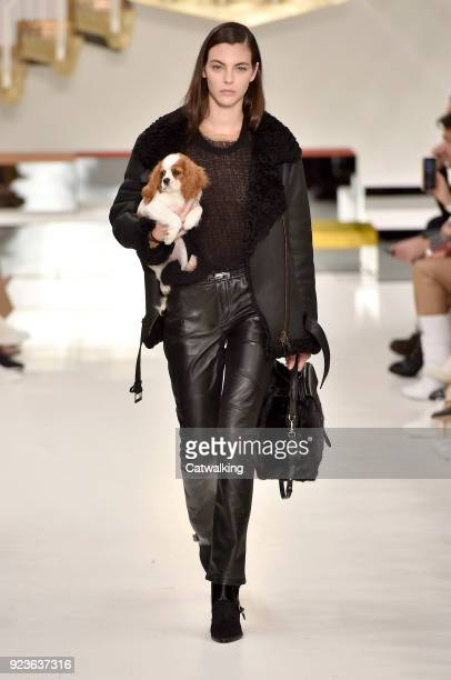 A model walks the runway at the Tod's Autumn Winter 2018 fashion show during Milan Fashion Week on February 23 2018 in Milan Italy