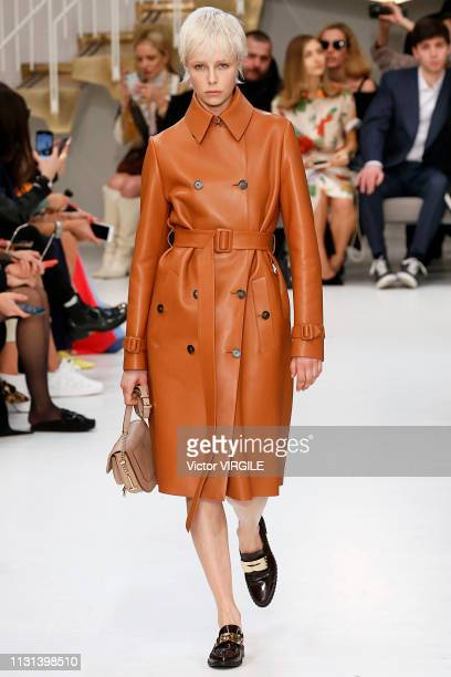 Model walks the runway at the Tod's Ready to Wear Fall/Winter 2019-2020 fashion show at Milan Fashion Week Autumn/Winter 2019/20 on February 22, 2019...