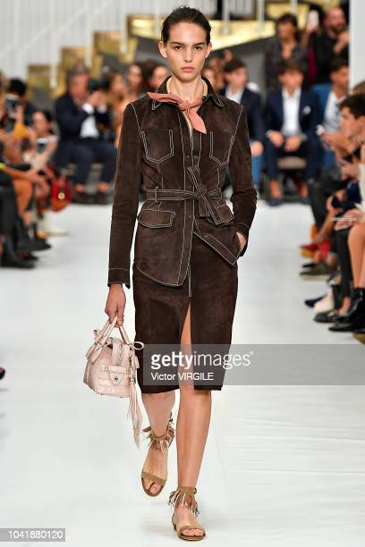 A model walks the runway at the Tod's Ready to Wear fashion show during Milan Fashion Week Spring/Summer 2019 on September 21 2018 in Milan Italy