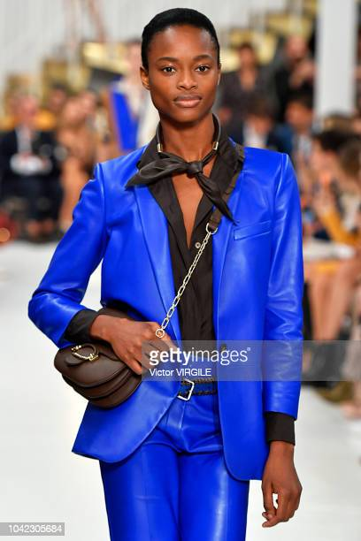 Model walks the runway at the Tod's Ready to Wear fashion show during Milan Fashion Week Spring/Summer 2019 on September 21, 2018 in Milan, Italy.