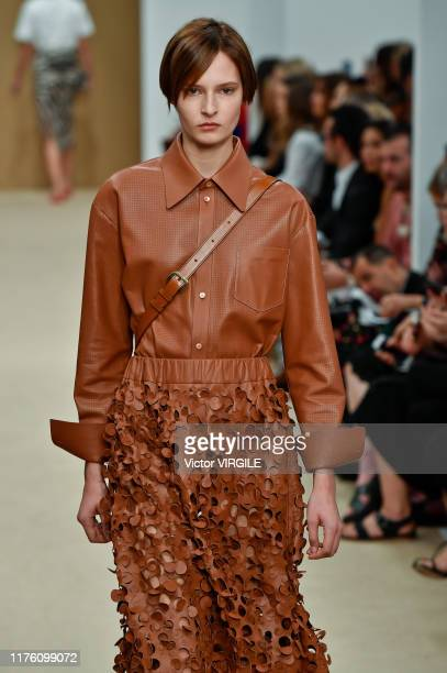 Model walks the runway at the Tod's Ready to Wear fashion show during the Milan Fashion Week Spring/Summer 2020 on September 20, 2019 in Milan, Italy.