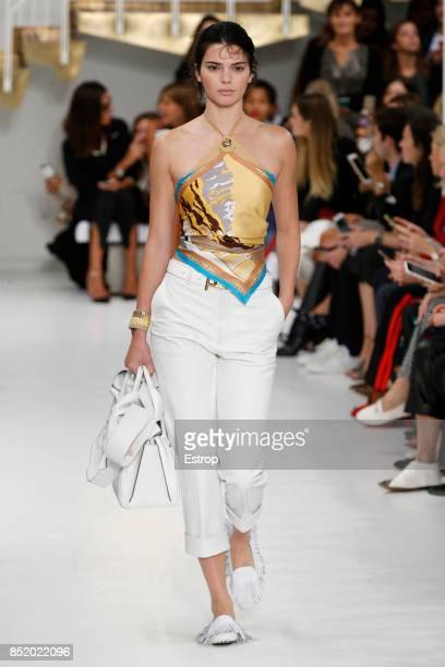 Model walks the runway at the Tod's show during Milan Fashion Week Spring/Summer 2018 on September 22, 2017 in Milan, Italy.