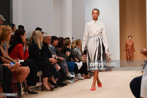 Model walks the runway at the Tod's show during the Milan Fashion Week Spring/Summer 2020 on September 20, 2019 in Milan, Italy.