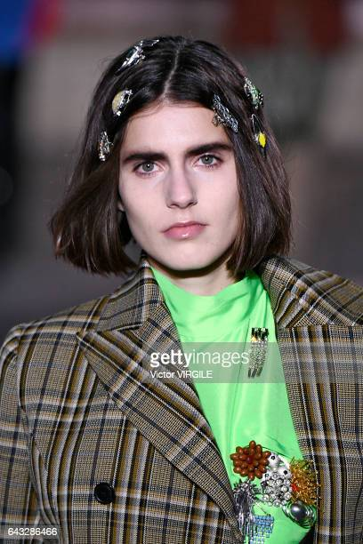A model walks the runway at the TOGA Ready to Wear Fall Winter 20172018 fashion show during the London Fashion Week February 2017 collections on...