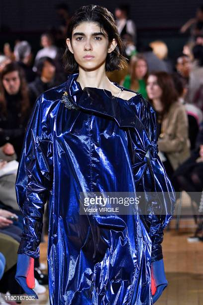 A model walks the runway at the TOGA Ready to Wear Fall/Winter 20192020 fashion show during London Fashion Week February 2019 on February 16 2019 in...