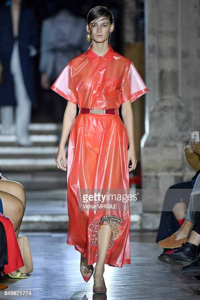 416ea87d883 A model walks the runway at the TOGA Ready to Wear Spring Summer 2018  fashion