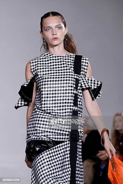 A model walks the runway at the Toga show during London Fashion Week Spring/Summer collections 2017 on September 20 2016 in London United Kingdom