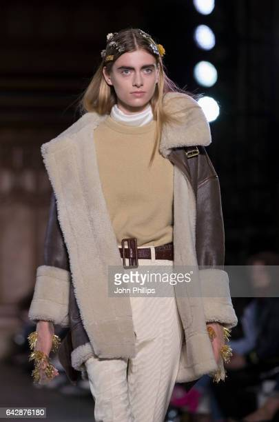 A model walks the runway at the TOGA show during the London Fashion Week February 2017 collections on February 19 2017 in London England